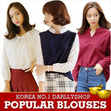 Super Time Sale!! ★darllyshop★ Ruffles Blouse ★ Made in Korea★ Fast Shipping! Korea Open Market Best Selling High Quality Tee and Blouse
