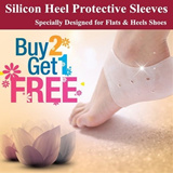 [BUY 2 GET 1 FREE] Premium Quality Silicon Flats Heels Protective Sleeves Protector Cover ♥ A Natural Remedy for Cracked Heels ♥ Foot Treatment ♥ Moisturize ♥ Repair ♥ Whitening