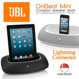 JBL OnBeat Mini Portable iPhone/iPod Speaker Docking Station !!! Compatible with iPhone 5 / 6 / iPad Mini / Air with Lightning Connector Port !!! Best Christmas Gift !!!