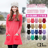 OBDESIGN ★ I.MODA ★ CANDY SWEET KNITTED TOP ★ PLUS SIZE ★ FREE SIZE ★ 20 COLORS ★ TRAVEL ★ OFFICE ★ HOLIDAY ★ XMAS ★NEW YEAR ★ PARTY