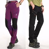 2014 New Man and women Shark skin / windproof and waterproof / Warm thickening / Soft shell / Pants Couples / Soft shell pants / Outdoor Climbing pants / Casual pants