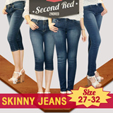 [BRANDED SKINNY]PREMIUM SKINNY JEANS/Denim Cotton Spandex/SIZE 27-32/High Quality/Stretcy/Long and 7/8 Style