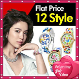 Flat Price/12 Style/Flower Jelly band watch