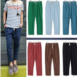 2014 New Arrival Mens Trousers/ Nine Minutes of Pants / Male Flax Casual Pants/ Slacks / Korean Style/ Stylish Man