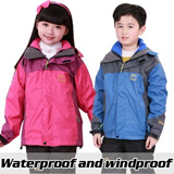 Girls and boys Child / children / Kids / down jacket / ski suit / winter jacket / winter coat / windproof and waterproof breathable warmth detachable 2 piece suit