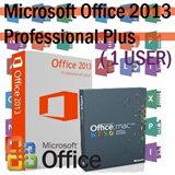 Genuine Microsoft Office 2013 Professional Plus Office for Mac Home and Business 2011 32 64 bit Retail Edition (1 PC) Electronic License