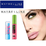 Authentic Maybelline(USA) BABY LIPS AND GREAT LASH MASCARA(BLACK) SET