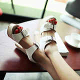 FREE SHIPPING ★Double Buckle  Sandal★ Match Anything!!! Stable High Heels