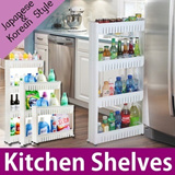 NEW! Multipurpose Stand Japanese import Into any space Storage Stand  kitchen storag kitchen rack Saving-Movable Multi_Layer Shelf