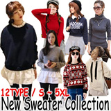 ★2014 New Sweater Collection/Korean drama/ shirt/blouse/winter clothes/winter/dres/High Quality/High quality fabric/Korean Fashion/etc/winter coat