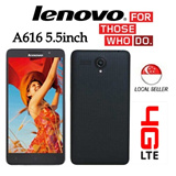 Lenovo A616 5.5Inch IPS 4G LTE Dual SIM / 1.3GHz Quad Core / Android 4.4 4GB | 5MP Camera With Playstore! 6 months Warranty !