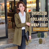 OBDESIGN ★ I.MODA ★ OVERSIZED COLLARLESS WRAP ★ PLUS SIZE ★ SIZE S - 2L ★ BUY 2 FREE QEXPRESS ★ EVENT ★ TRAVEL ★ HOLIDAY ★ RELAX ★ COMFY ★ RELAX ★ WINTER ★WARMTH