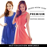 [FREE SHIPPING]SG SELLER/Premium chiffon dress/ party/dinner/work/office/wedding/bridesmaids/sisters