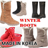 ★Korea HIT★ Womens winter boots shoes ★ made in KOREA ★ warm fur lining waterproof long middle ankle fashion boots walker snow shoe padding casual sneakers wedge heels girl ladies Christmas gift