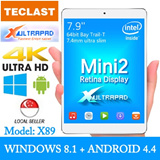Teclast X89 7.9inch Dual System Tablet with Retina Display + Intel ATOM CPU !!! Support both Windows 8.1 and Android 4.4 !! Comes with 6months Local Warranty !!!