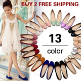 [BUY 2 FREE SHIPPING] Spring Summer Women Fashion Flat Shoes/ PU Leather/ Work Shoes/Casual Footwear 13 Colors