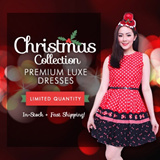[12TH DEC Updated] CHRISTMAS COLLECTION! Premium Luxe In-House Dresses Size SML Prints Lace Skater Cuts