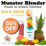 Germany Design Münster Smoothie Blender/ Juicer / Mixer / Smoothies maker / Personal Blender / Munster Blender / 10 times better than Shake N Take Blender / Popular in US/UK/AU/Europe/Taiwan/Japan