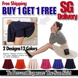 【SG Delivery】【 Limit 100 Set Only】BUY 1 GET 1 FREECandy 12 Colors Mini Skirt/To Prevent Exposure The Sun Skirt【FREE SHIPPING】Limited time offer