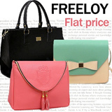 FREELOY★Korea Fashion★ShoulderBag/Handbag/Work Bag/Tote/Big Bag/Cross Body Bag/Clutch/shopper/mini bags