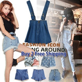 [buy 2 free shipping]2014 Brand New/Fashion Women Jeans Collection/Denim Suspender Skirts/Jeans Suspender Pants Overalls/Denim Shorts/Flounced Jeans Skirt/Jeans/HOT SALE
