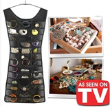 [buy 2 free shopping]As Seen on TV Little Black Dress Hanging Jewelry Accessories Organizer