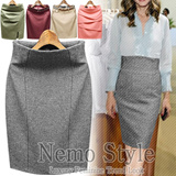 Flat Price Trendy Women Fashion/Dress/Linen Pencil skirt/Office look/Made in our own factory in KOREA/