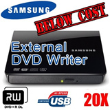 20X SAMSUNG EXTERNAL DVD WRITER / PLAYER: Suitable for all PC and Notebook / Can play slideshow
