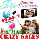 [CHRISTMAS GIFT]Wireless Built-in Bluetooth Remote Monopod* INCLUDED BRACKETS* PRICE IN ONE* Extensible Handheld Pole Compatible for Android/IOS* Control Selfie Pod iPhone * Galaxy *