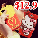 2014 MOSCHINO Hello Kitty leather Flip Case Sillicone casing Galaxy Note 3 Case Galaxy Note 2 Case Galaxy S4 iPhone 5 Case iPhone 5S iPad mini