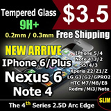 Cmei Tempered Glass Screen Protector Iphone 6/Plus/5/5S/5C/4S S3/4/5 Note 4/3/2 Xiaomi Redmi Mi3/2/Note LG G2/G3/G Pro/Nexus 5 Sony Xperia Z/Z1/Z2 HTC One/Max/M8/E8 Zenfone 5/6 OnePlus Privacy