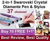 HOTTEST SELLER*BEST QUALITY*CHRISTMAS/BIRTHDAY GIFT. BUY 10 FREE 1. BEST REVIEWED 2in1 Swarovski Crystal Bling Blink Diamond Diamante Pen Touch Screen Stylus : FAST SHIPPING/LOCAL SELLER