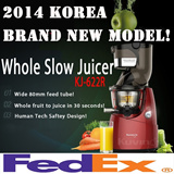 [Super Sale]Kuvings KJ-622R Whole Slow Juicer 80mm Wide Inlet Extractor Fruit Vegetable Powerful Screw / Hurom Cuttless