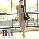 Tokyo Fashion - Stretch Long Drawstring Dress-4007439