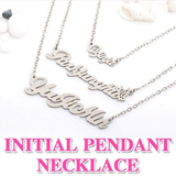 ★Initial Pendant Necklace - From Korea★ Free Plating / Customized Necklace / HANDMADE NAME PLATE / If you buy this you must input initial up to 10letters!!