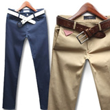 Korea Hit! slim cotton pants skinny jeans premium denim slacks men