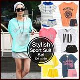 Sport Suit Set★Fashionable Training Jersey Set Parker T-shirt / Race Sports W.