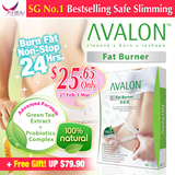[CNY SALE + Free Gift worth $22! UP $79.90 PER BOX!] SG #1 Best Selling AVALON™ Fat Burner ★ No Diuretic / Caffeine / Laxative / Appetite Suppressant ★ Safe Slimming ★ Weight Loss ★ Diet