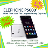 ElephoneP5000/5350mahbattery/FHD/PPI:440/2+16GB/16mp+8mp/charge70%in one hour/960mins talking time/Fingerprint ID/NFC/