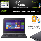 Aspire ES1-111-CU5A  Win8.1BSL Black-Garansi Resmi 1 tahun-Windows 8.1 Single Language with Bing-Display  11.6 inch
