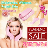[YEAR END SALE] SPA Gel Premium Quality Gel Gloves and Socks ♥ Hand/Foot Treatment ♥ A Natural Remedy for Cracked Heels ♥ Moisturize ♥ Repair ♥ Whitening