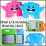 Kids Fashion Gifts Shock Proof Drop Resistance Cover Stand Protective Casing EVA Foam Handle Stand Back Shell Case for iPad Mini iPad2 3 4 iPad Air iPad 6 iPad Air2 Case Mini Retina Safe Cases CNY etc