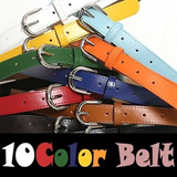 [Made In Korea] Buckle Mens Faux Leather Belt Casual Waist Belt Waistband 5 Colors Mens Webbing Move Metal Buckle Military Canvas Waist Belt Waistband NEW