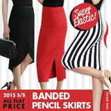One Day TimeSale!Flat Price New Styles Added!★Super Elastic Banded Pencil Skirt ★Made in Korea!★ OL Skirts /Oriental Skirt/MINI SKIRT/Flare Skirt/Long Skirt/Cotton /Flower