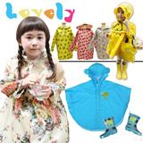 U55 Children raincoat / rain / Baby raincoat / super cute cartoon stamp student raincoat /