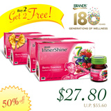 [BUY 2 GET 2 FREE] BRANDS® InnerShine® Berry Essence 24 Bottles x 42ml at $27.80  ★No. 1 brand in SG ★ Your Quick Beauty Fix ★ [STAR BUY]