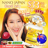 LOOK 10YRS YOUNGER! ★AWESOME BEAUTY BOOSTER★ NANO ROYAL JELLY • MAXIMIZE COLLAGEN 3X INSTANTLY! •  2200mg HDA-10 • Organic Certified ♥ Made In Australia