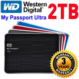 WD My Passport Ultra 2TB External HDD Harddisk 5 Colors: Ultra-compact design/auto and cloud backup to go! 3 Year Local Warranty