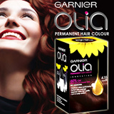 Olia Permanent Hair Colour with 60% Natural Flower Extracts. No Ammonia. Garnier Hair Dye