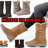 ★ Korea HIT ★ Womens winter boots shoes fur long middle ankle length boots shoe casual warm footwear girl lady made in korea kpop 2014 sale